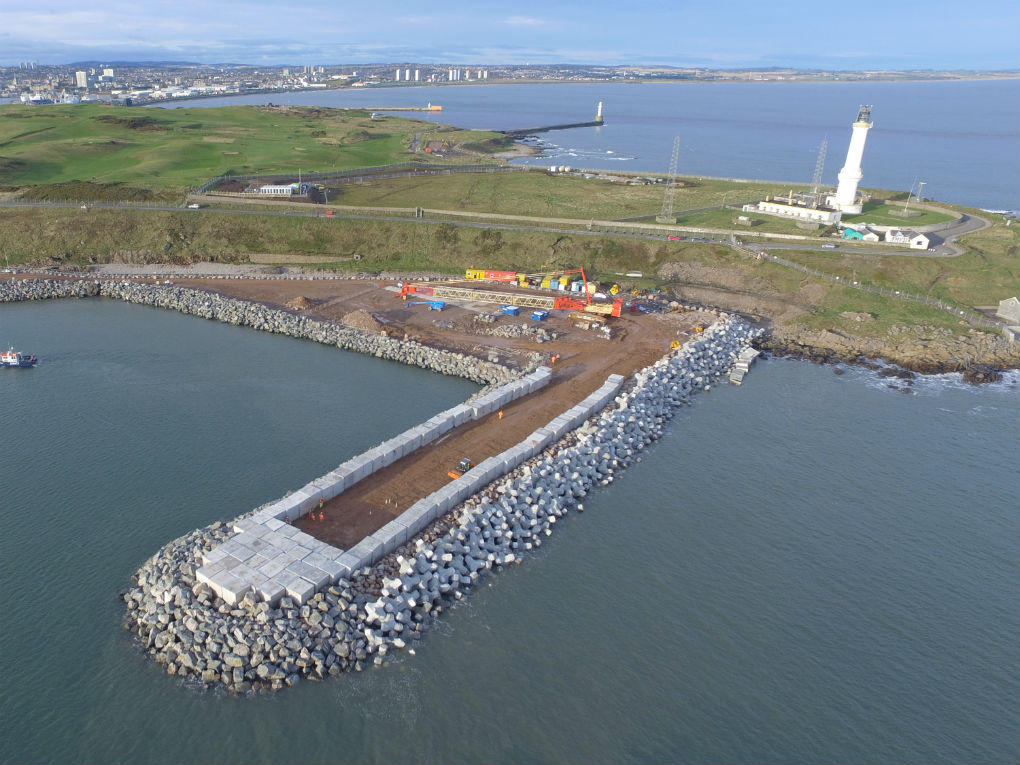 Aberdeen Harbour Expansion works continue